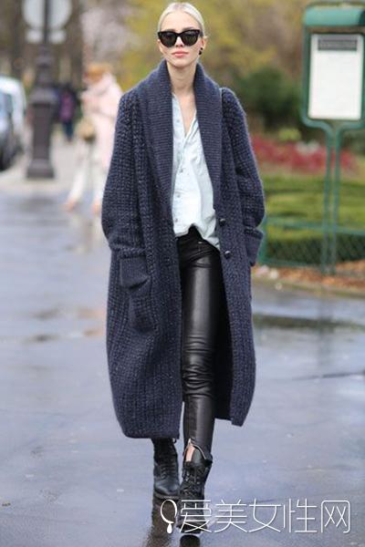告別臃腫秋季 針織外套這樣穿最顯瘦