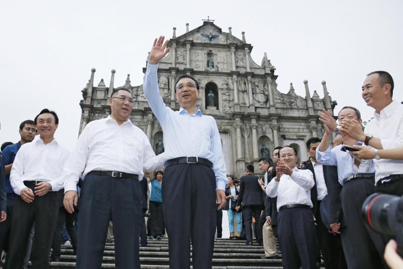 李克強總理視察澳門,堅定「一國兩制對香港澳門的正確方針