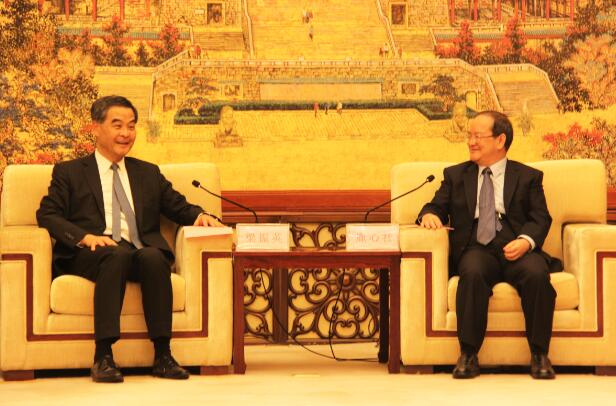 贛港高層會晤,增进兩地合作
