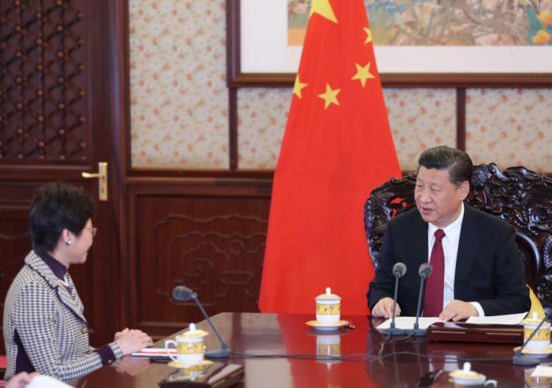 中央與林鄭月娥的政治委任