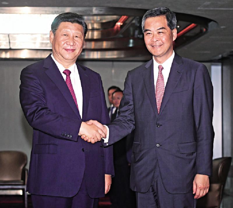 習近平訪港見證香港發展