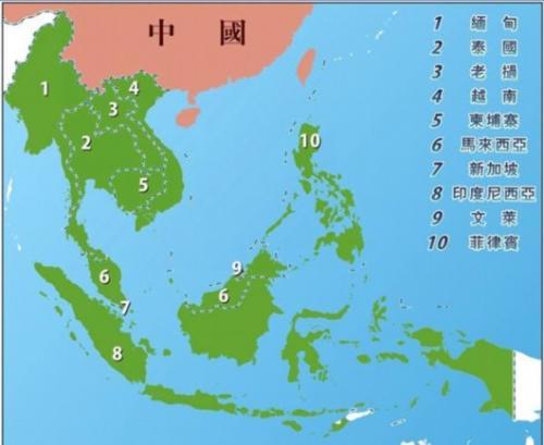 中國與東盟的經貿熱絡是全方位的