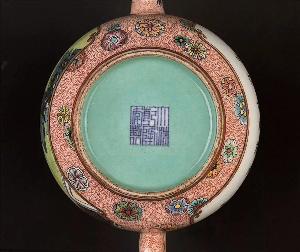 清乾隆粉彩禦制詩茶具:紫禁城中的文人情懷