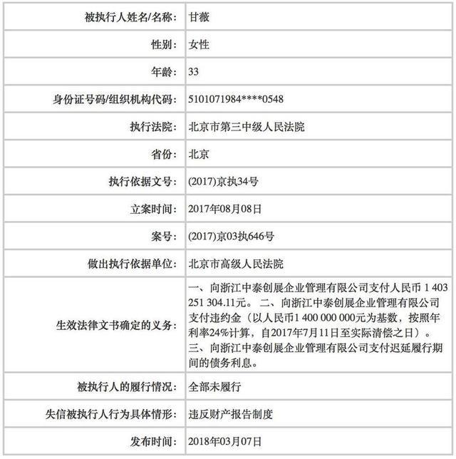 """賈躍亭妻子甘薇也成""""老賴"""",兩人還能否重聚?"""