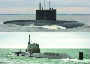 英核潛遭俄艦機追趕