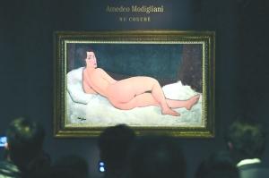 """全球藝術品第四高拍賣價:""""裸女""""名畫12億成交"""